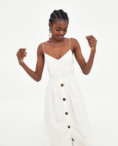 witte midi dress